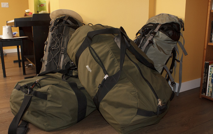 Believe it or not, all that stuff fit into our 4 bags!